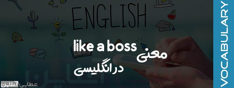 معنی like a boss